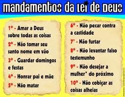MANDAMENTOS DA LEI DE DEUS