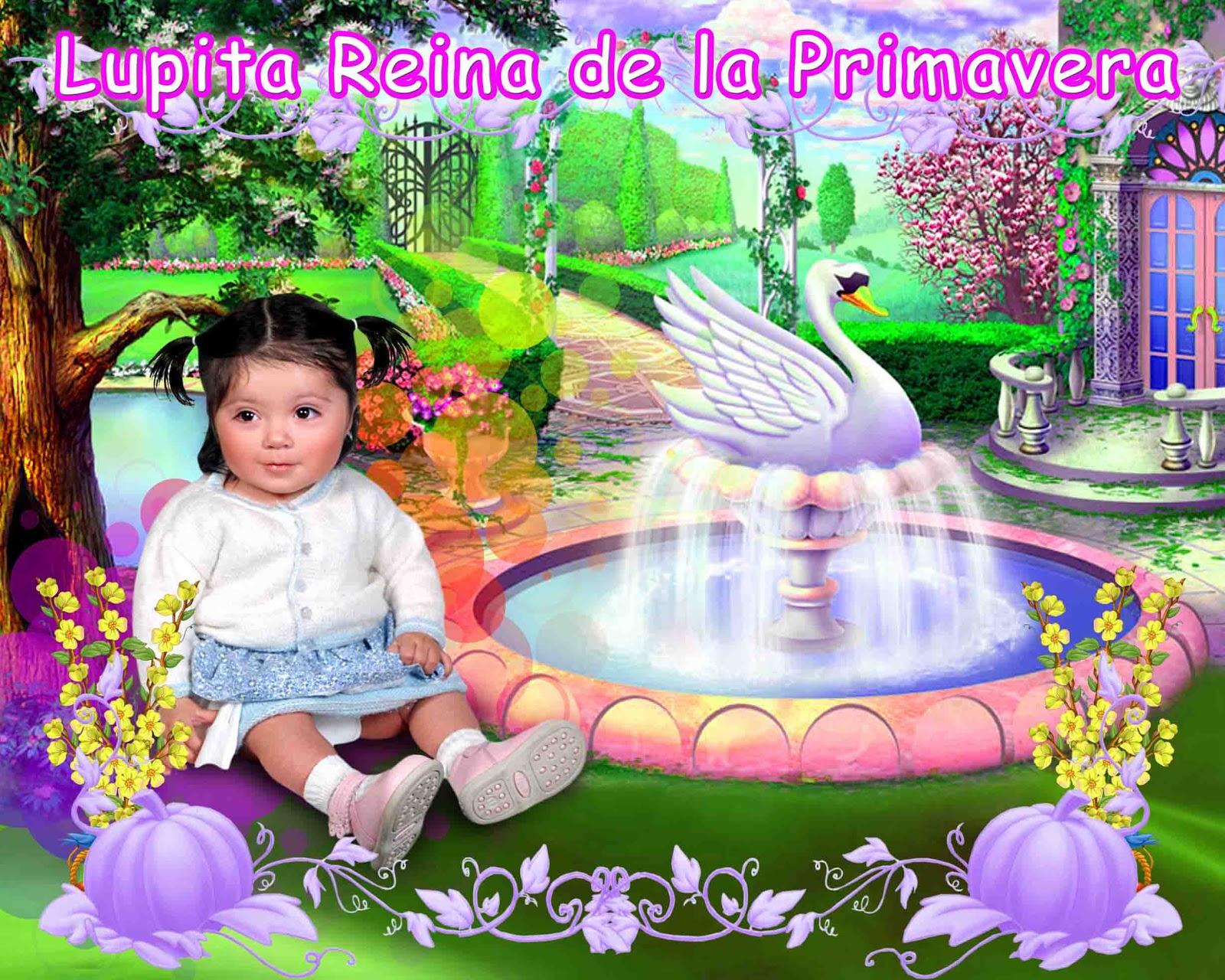 Plantillas para Photoshop.: Reina de la Primavera en psd