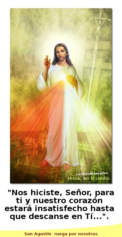 divina misericordia con un dicho de san agustin