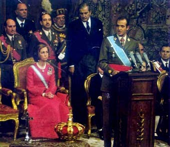 Mensjae de la Corona a Cortes 1975