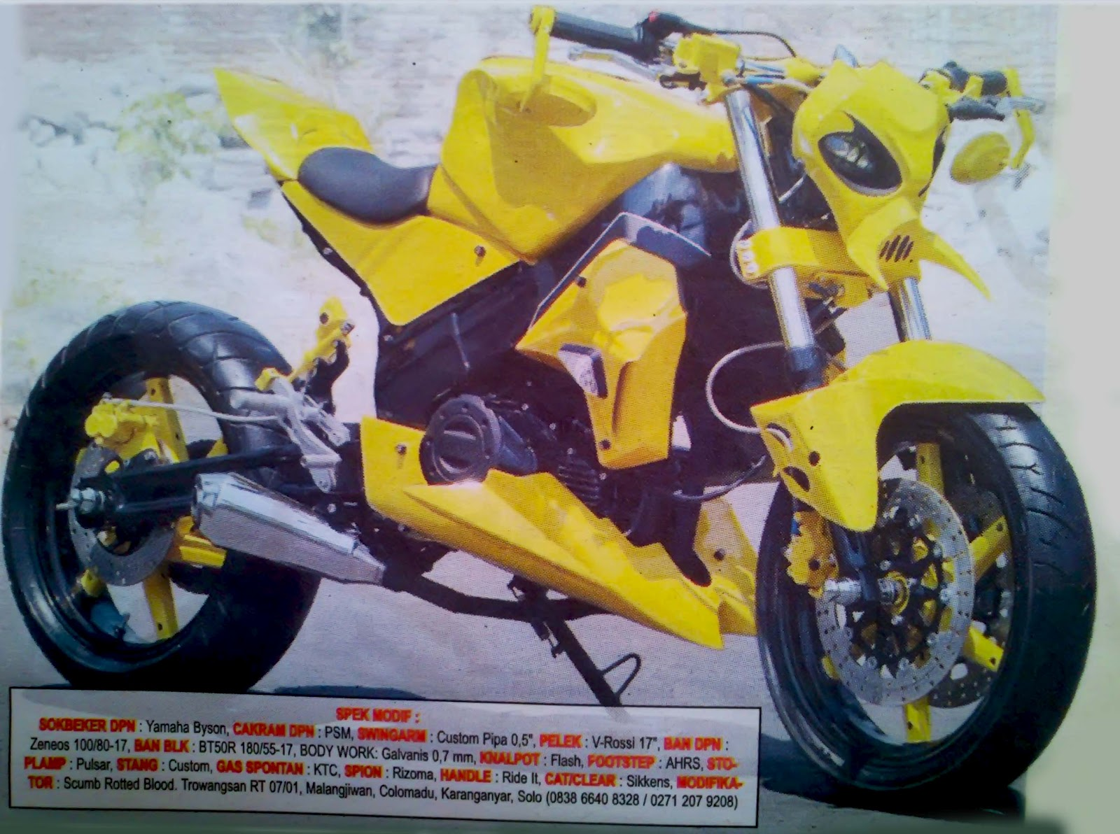modifikasi minerva r 150 vx streetfighter 2012 modifikasi minerva r  title=