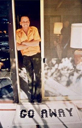 Frank Sinatra at home.