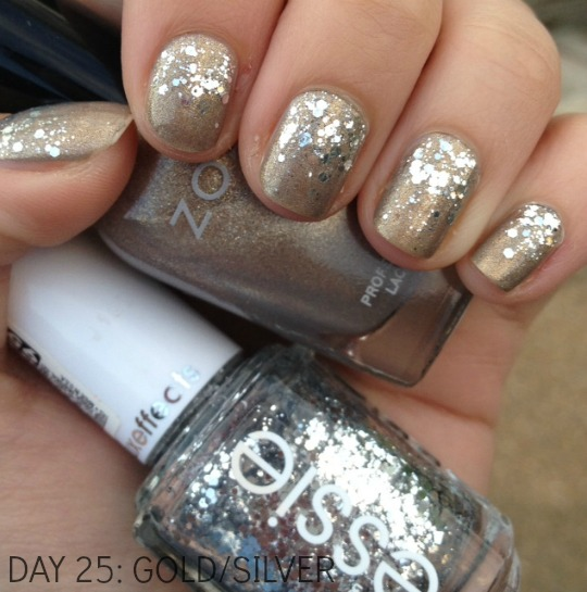 Nail Art Gold And Silver Beautiful Examples Of Glitter