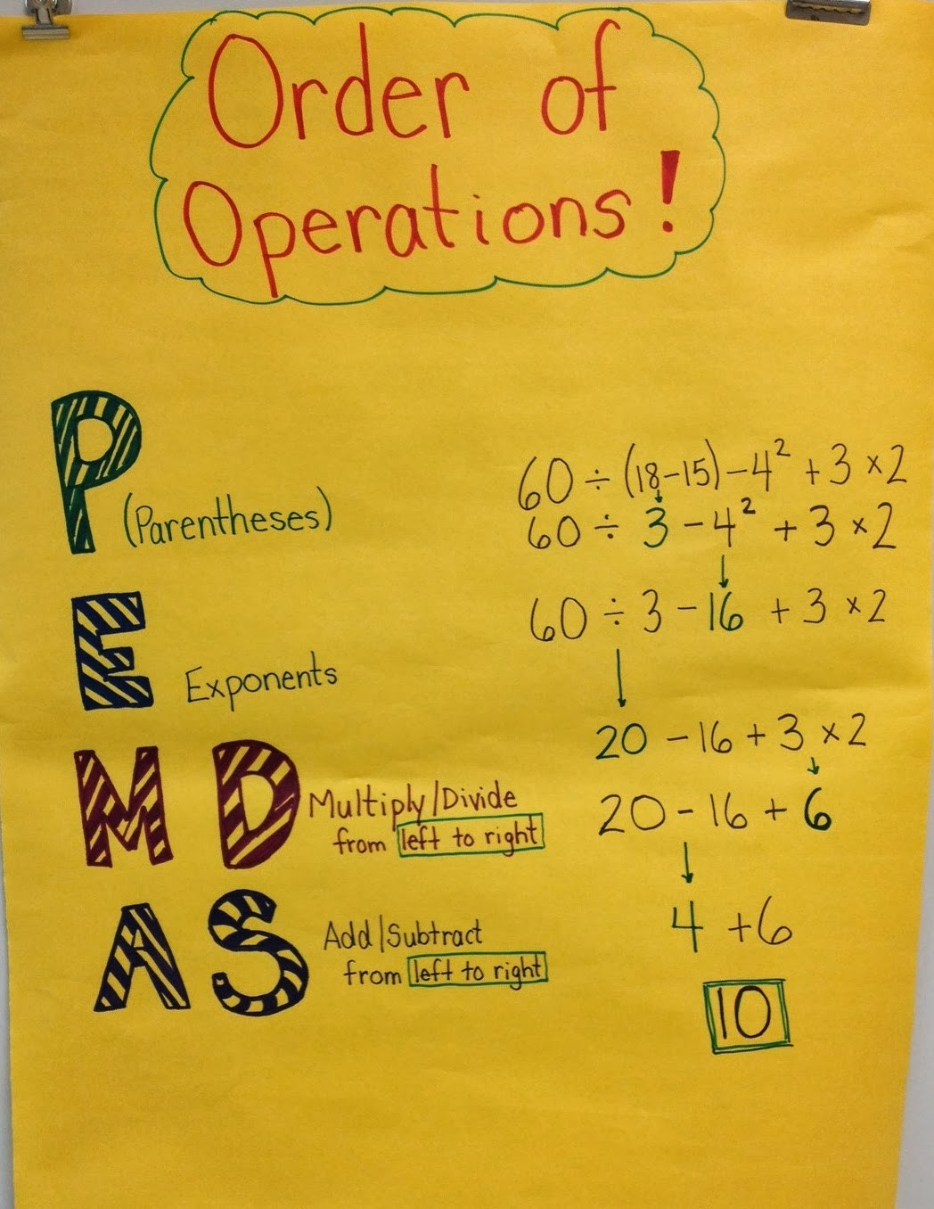 worksheet Pemdas middle school math moments and more pemdas fold it up poster for students to reference when practicing order of operations