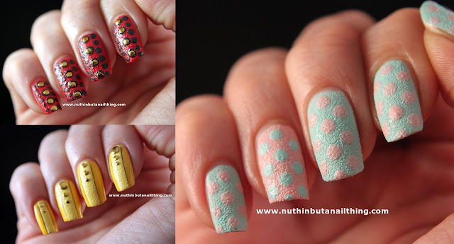 textured nail polish nail art