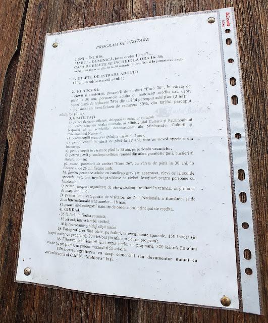 informatii palatul ruginoasa