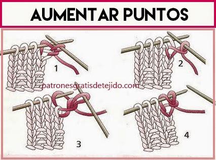 Aumentos y disminuciones en tricot
