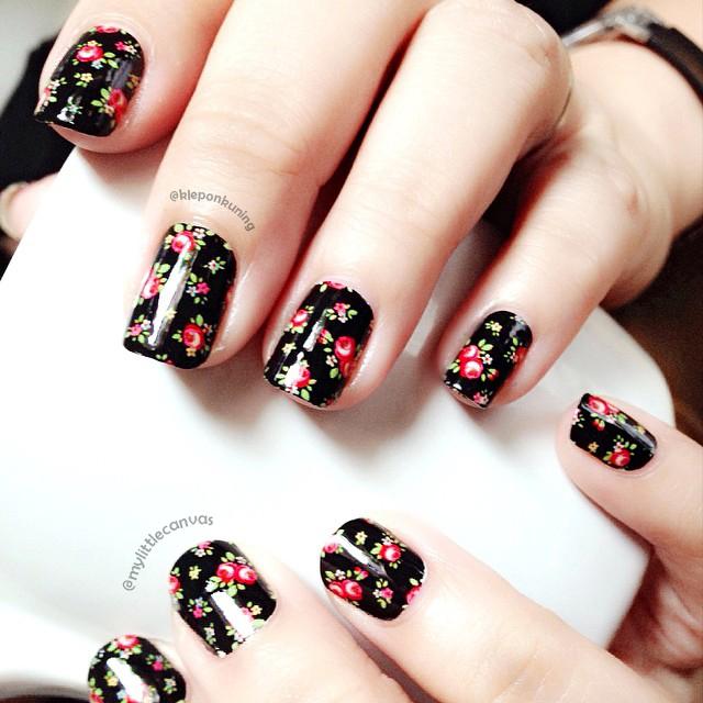 Nail Arts By Rozemist Cath Kidston Vintage Inspired: @MyLittleCanvas: Vintage Floral Nail Art