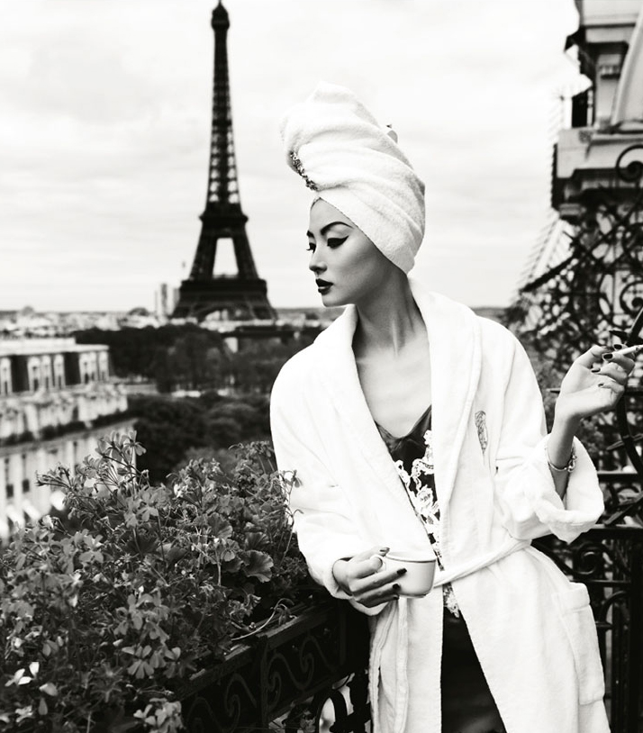 Miao Bin Si in Une journee a Paris / Harper's Bazaar China October 2012 (photography: Yin Chao) / fashioned by love british fashion blog