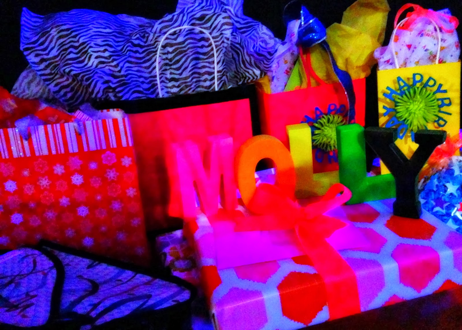 Bringing Up Burns: Molly\'s NINTH Neon/Glow in the Dark Dance ...