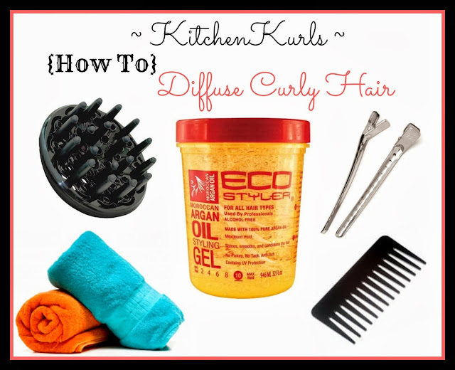 http://hairdr13.blogspot.com | KitchenKurls | How To Diffuse