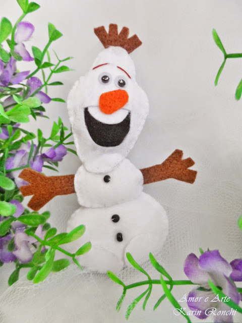 Olaf Frozen, lembrancinha em feltro