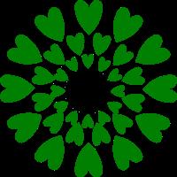 flor de corazones hecha con Inkscape