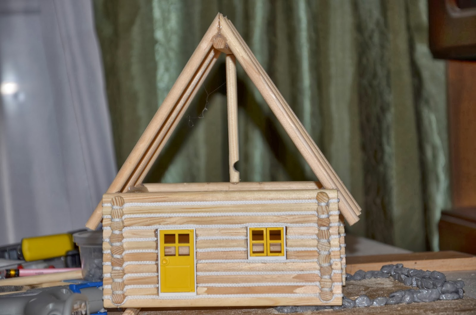 Как сделать домик для поделки 120