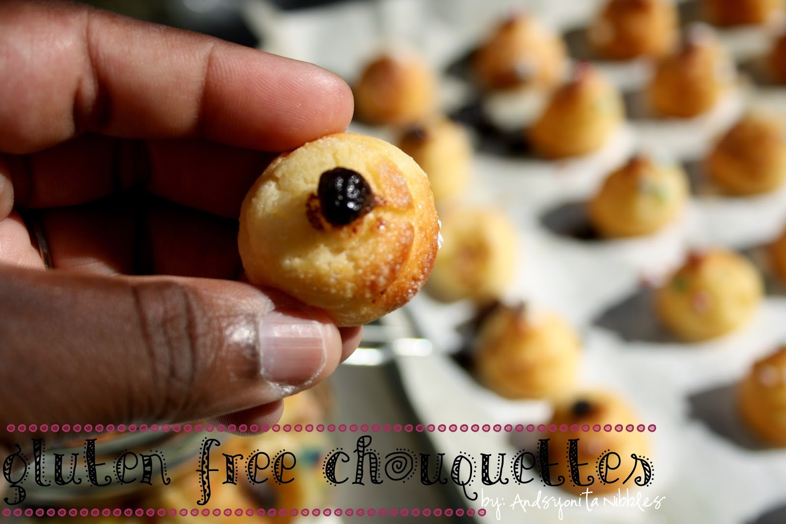 A chouquettte with chocolate chips from Anyontia Nibbles