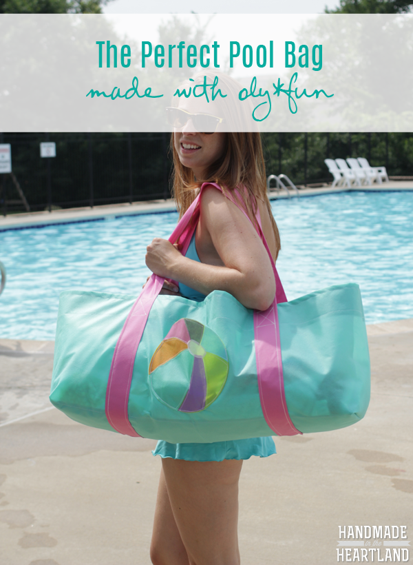 DIY Perfect Pool Bag made with oly*fun