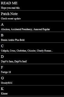 Lettertype foar Galaxy SP v0.4
