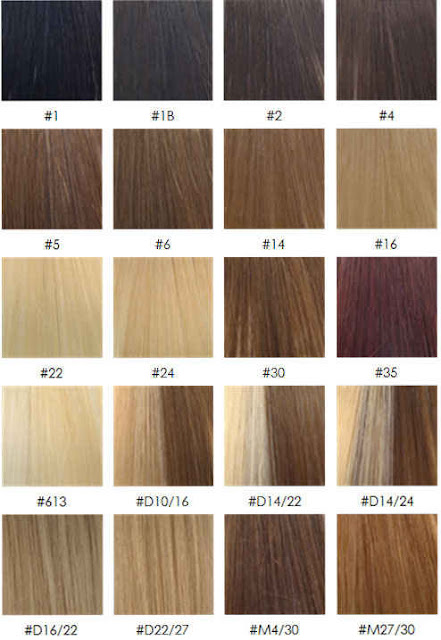 Aveda Hair Color Chart - click on the image to see it full sized.