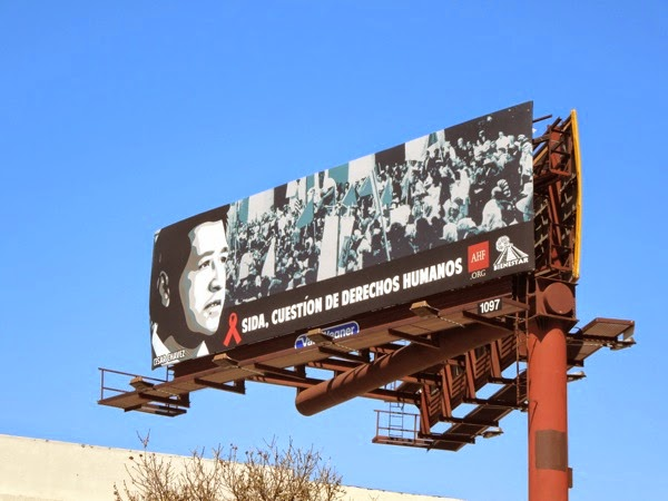 Cesar Chavez AIDS Healthcare Foundation billboard