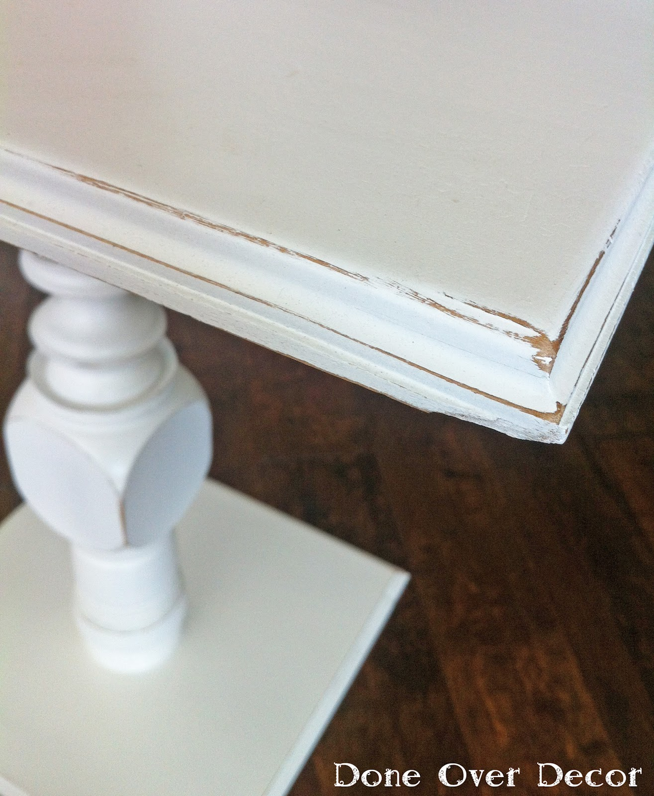 White Pedestal : Painted Nest: For Sale White Pedestal Table