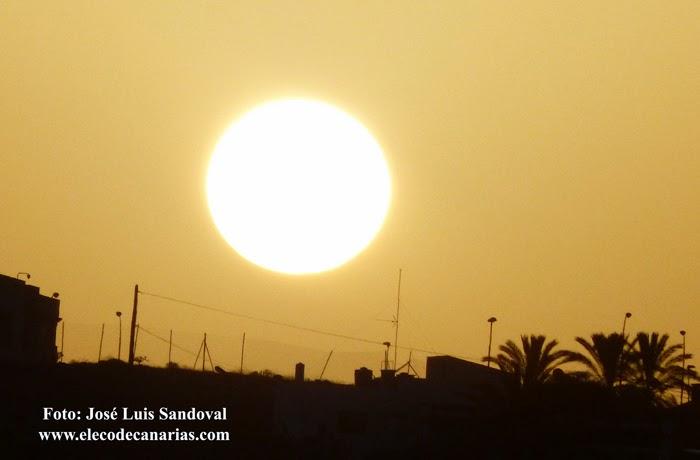Calima y subida temperaturas en Canarias, diciembre