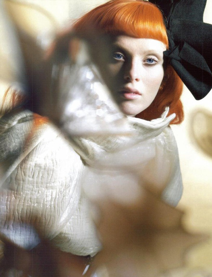 via fashioned by love |  Karen Elson in Sculpture Class | Vogue UK October 2008 (photography: Nick Knight)