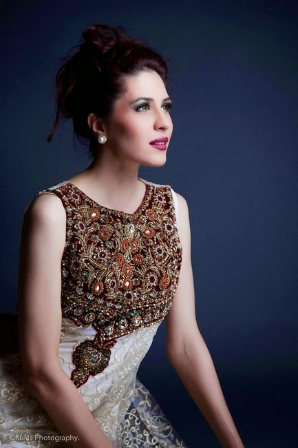 Embroidered Luxury and Royal Embroidered Dress by Mina Hasan