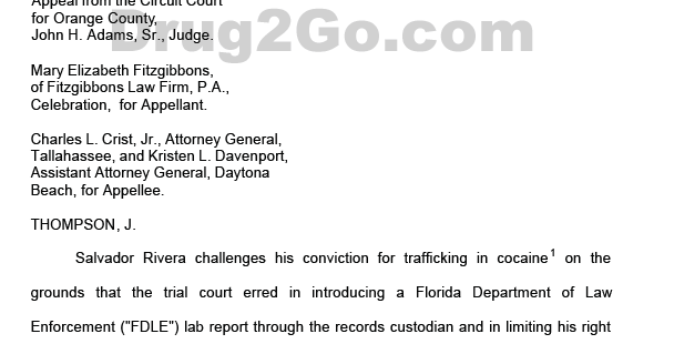 Video of Florida Drug Lab Scandal