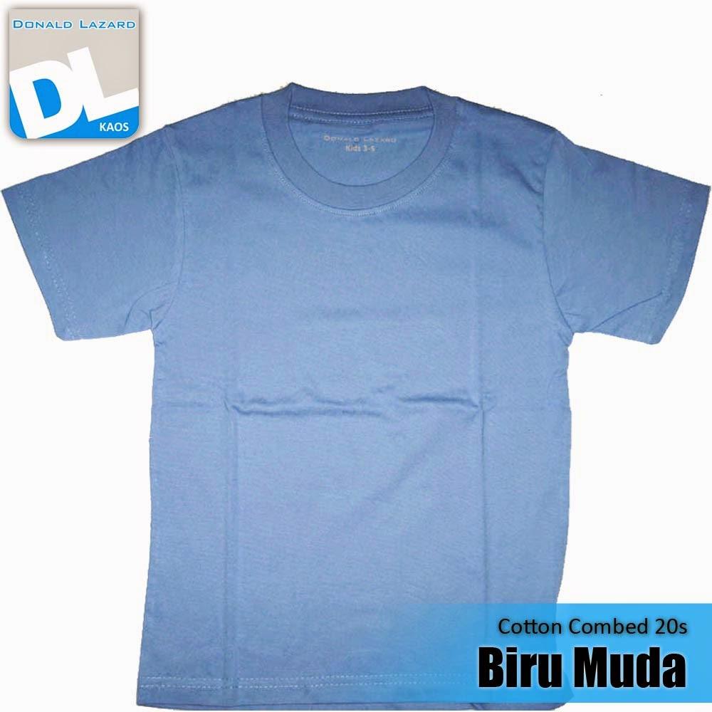 Sablon Warna Kaos Biru Muda