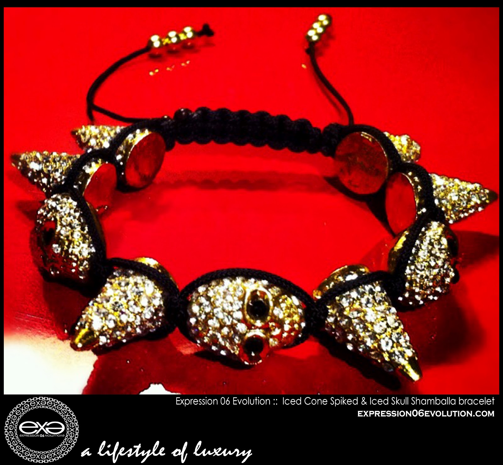 http://2.bp.blogspot.com/-lo9LJv3LE1c/UCY5PFIcZcI/AAAAAAAAB3A/w0lWWoqlMso/s1600/EXPRESSION+06+EVOLUTION+-+SPIKED+SHAMBALLA+BRACLET+-+GOLD+cone+SPIKES+and+skll+head+WITH+white+stones+-+EXPRESSIVE+CLOTHING+LLC+-+DUSHON+EX+DANIELS+-+ALEXIS+BELSKI+.jpg