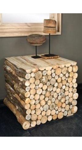 A 39 pallota troncos tronquitos y muebles for Muebles con troncos