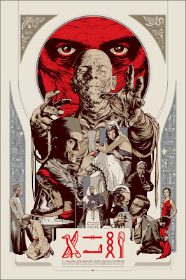 Mondo Universal Monsters Screen Print Series - The Mummy Hieroglyphic Edition by Martin Ansin
