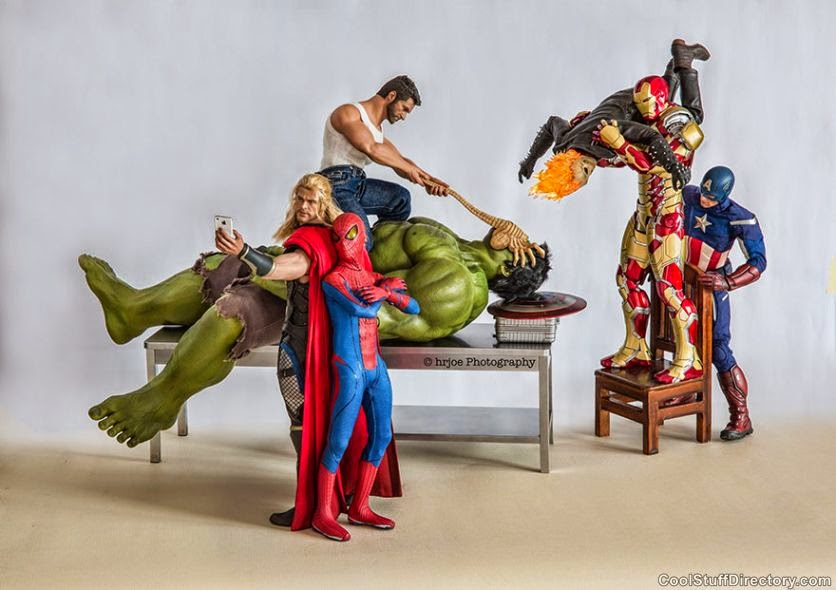 Superheroes in Real Life: The Secret Life Of Superhero Toys in the Photographs of Edy Hrjoe