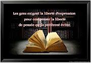 Belle citation sur la liberté de penser sur une image, citation en image .