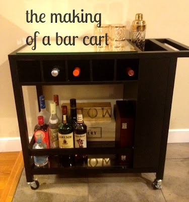 building a bar cart, putting together a bar cart, Target bar cart