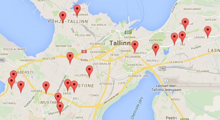 Maxima, emaxima, Tallinna, Tallinna tutuksi, Google Maps