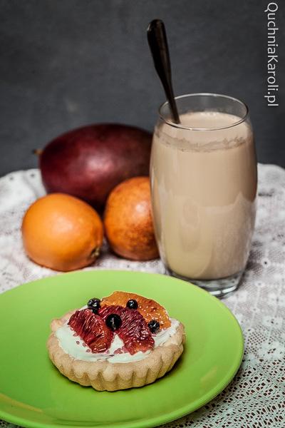 Tartaletki z kremem z białej czekolady i pomarańczą sycylijską