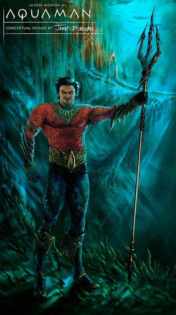 Jason Momoa concept art fan made Aquaman