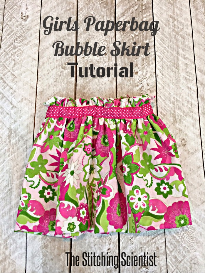 sewing folded bubble design skirt