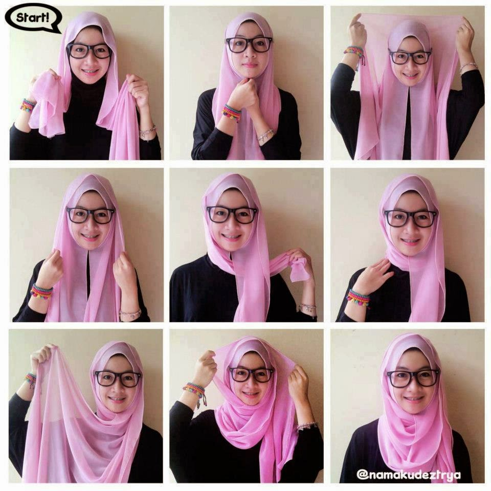 Hijab Fashion Tips Dan Tutorial Kreasi Hijab Masa Kini 2014