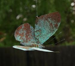 Fjäril i koppar