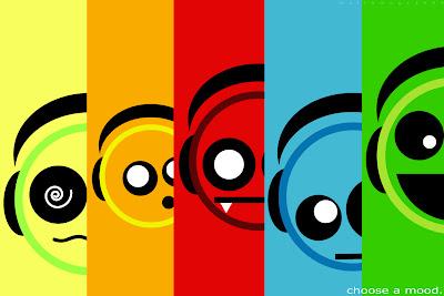 Colorful Emoticon Mood Wallpaper
