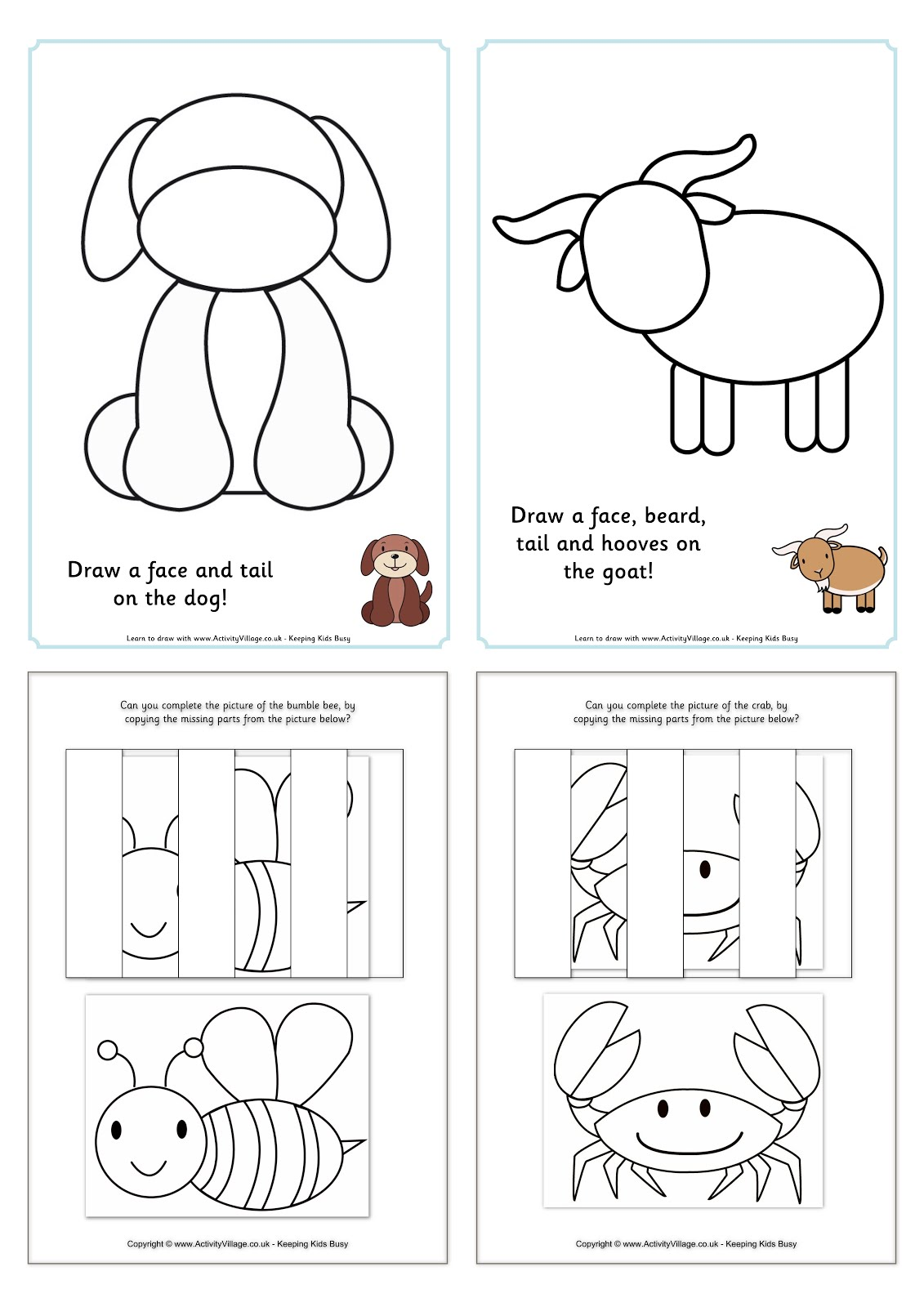 Lovely FREE Visual Closure Worksheets designed by ActivityVillage.co.uk