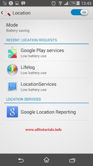 Setting Location di android untuk penghematan baterai