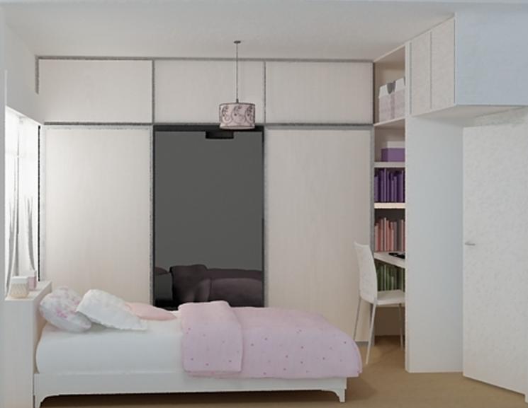 Proyectistas c y v dise o dormitorio juvenil vestidor opcion 1 - Diseno dormitorio juvenil ...