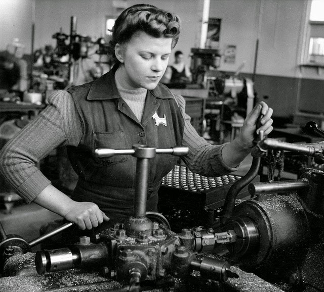 """working women during world war ii Rosie the riveter"""" is an american icon representing women working in factories during world war ii these women learned new jobs and filled in for the men who were away."""