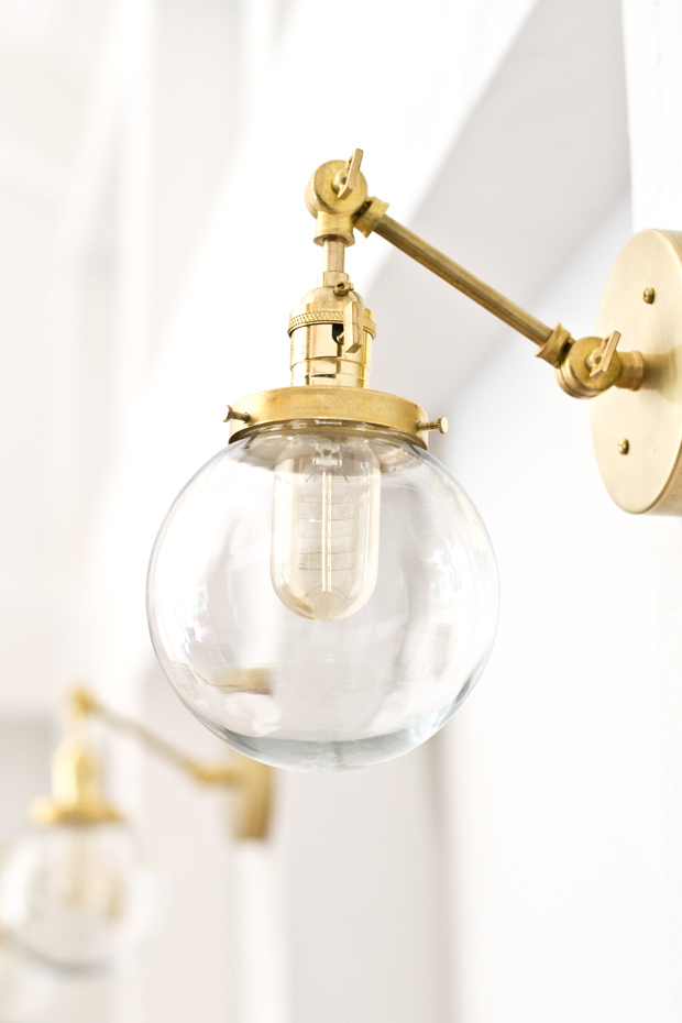 Large Wall Light Sconces : sarah m. dorsey designs: DIY Brass Sconce