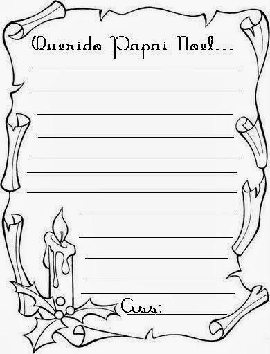 Proposta de redação (Carta para o papai noel)