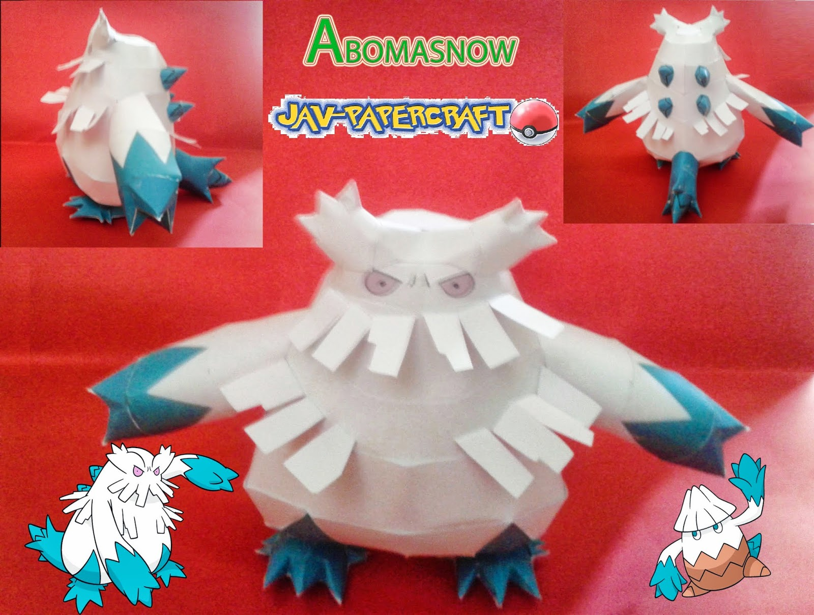 Pokemon Abomasnow Papercraft