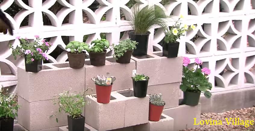 How To Build A Cinder Block Garden Wall, Cinder Block Garden Wall, Cinder  Block